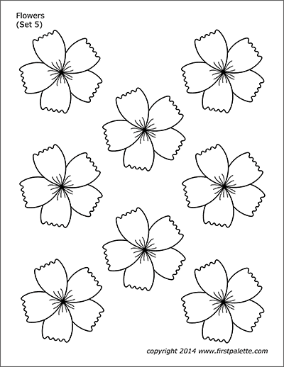 Flowers Free Printable Templates