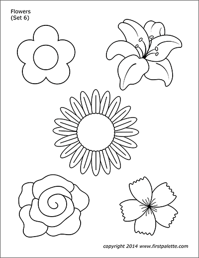 Flowers Free Printable Templates Coloring Pages Firstpalette Com