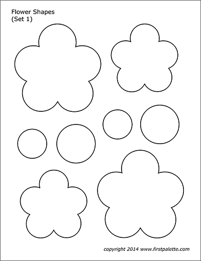 photo relating to Flower Stencil Printable called Flower Designs No cost Printable Templates Coloring Internet pages