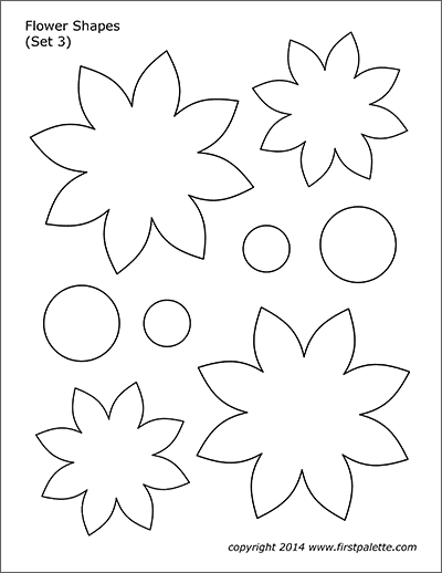 Printable Flower Shapes - Set 3