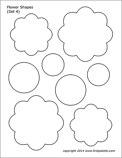 Printable Flower Shapes - Set 4
