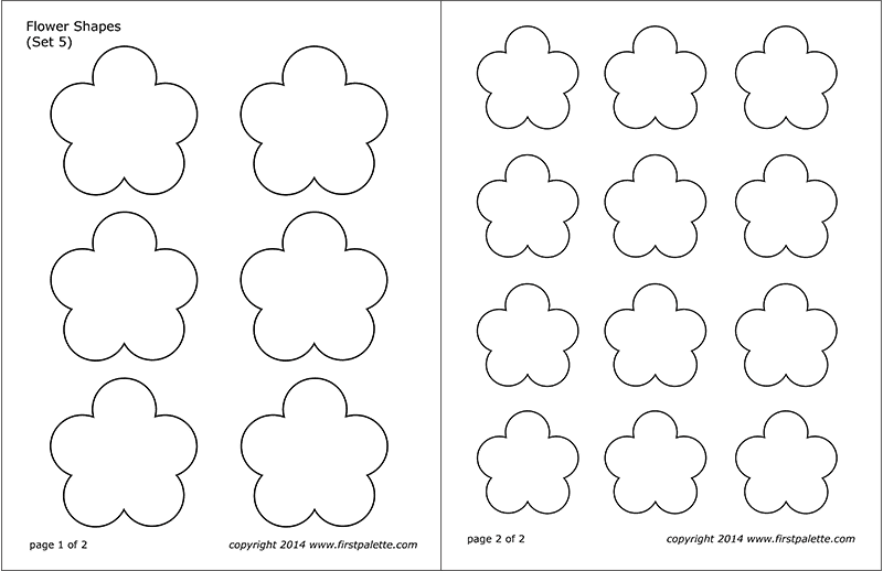 Printable Flower Shapes - Set 5
