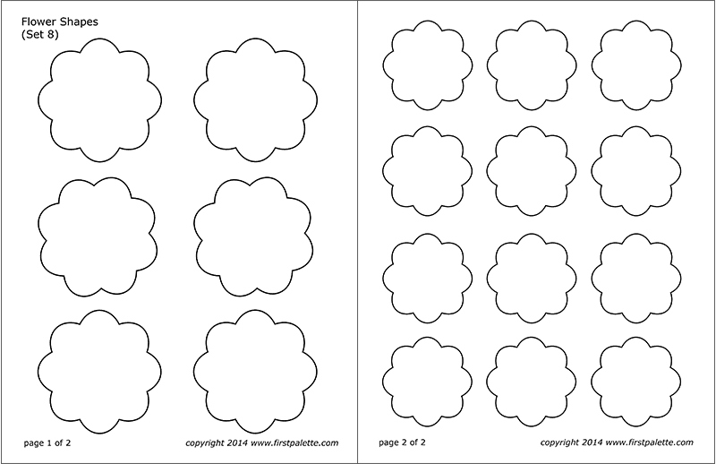 Printable Flower Shapes - Set 8