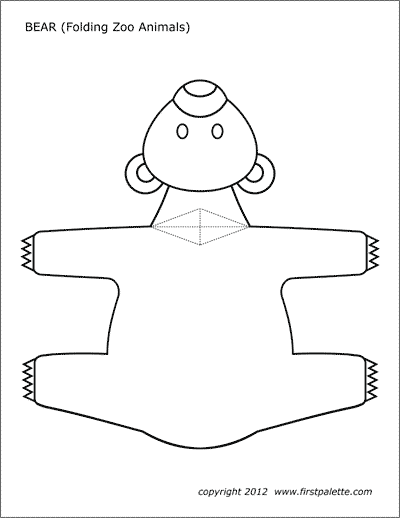 This is an image of Free Printable Animal Templates intended for cut out