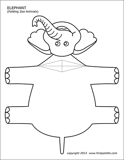 image regarding Printable Elephant Stencil named Elephant Cost-free Printable Templates Coloring Webpages