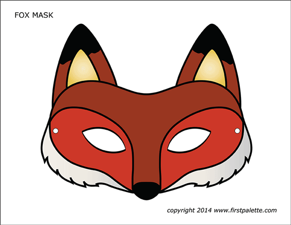 photo about Printable Fox Masks named Fox Mask Totally free Printable Templates Coloring Web pages