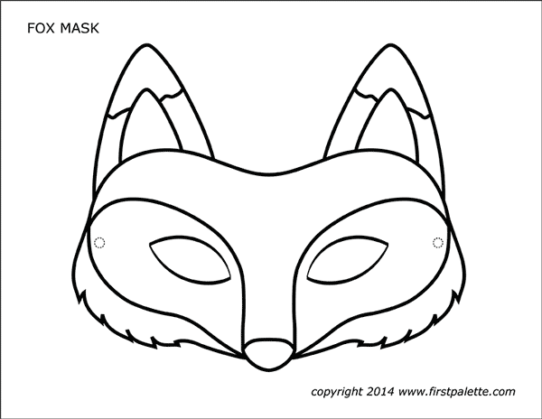 This is a picture of Printable Fox Mask pertaining to moon mask