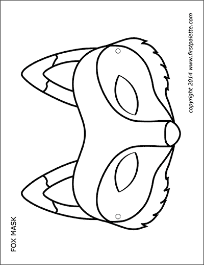 Printable Fox Mask