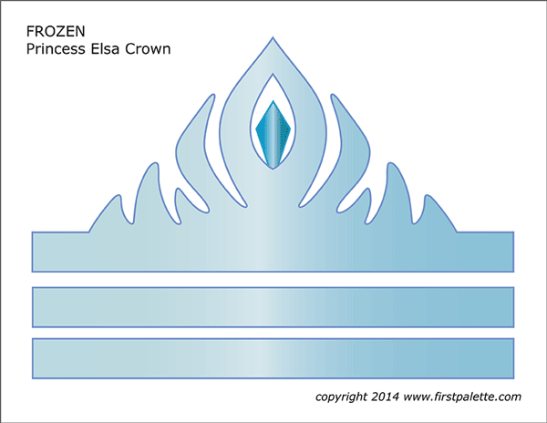 Frozen Princess Crown Templates Free Printable Templates