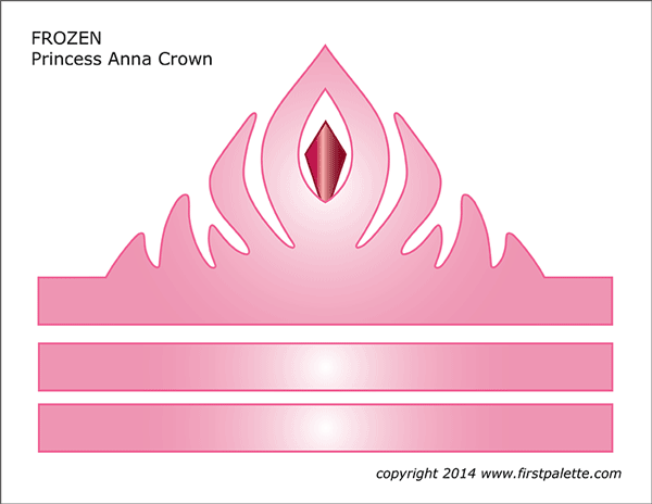 Frozen Princess Crown Templates
