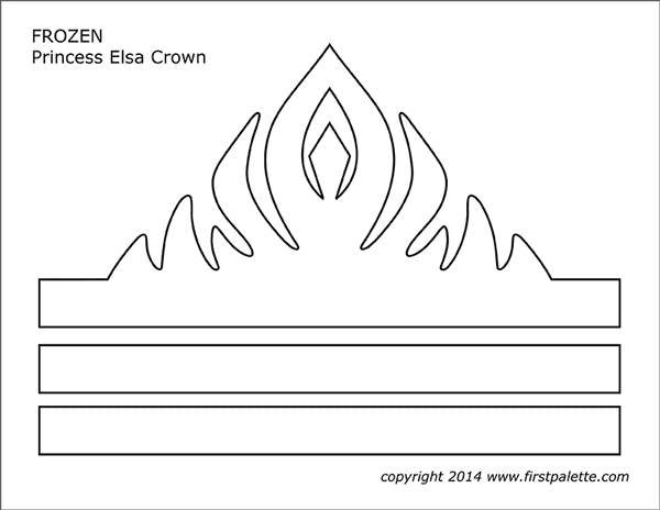 image regarding Free Princess Crown Template Printable identify Frozen Princess Crown Templates Free of charge Printable Templates