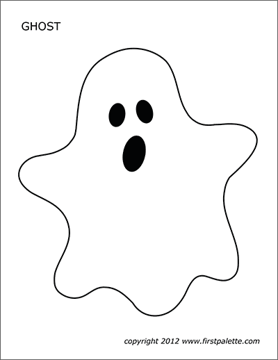 Printable Large Colored Ghost