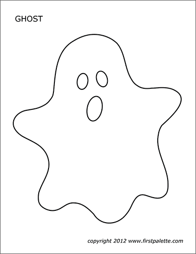 image about Printable Ghost named Ghosts No cost Printable Templates Coloring Webpages