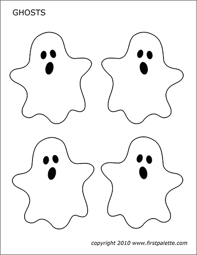 Printable Ghosts