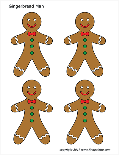 Printable Gingerbread People