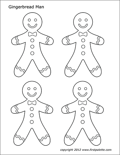 Gingerbread Man Free Printable Templates Coloring Pages Firstpalette Com