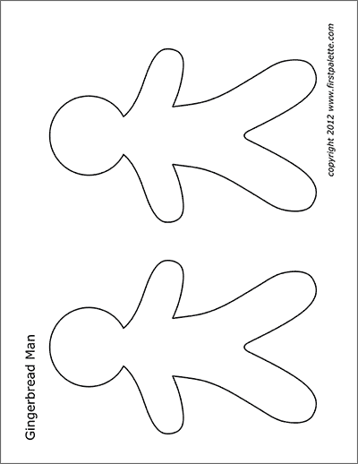 image relating to Gingerbread Man Template Free Printable referred to as Gingerbread Gentleman No cost Printable Templates Coloring Web pages