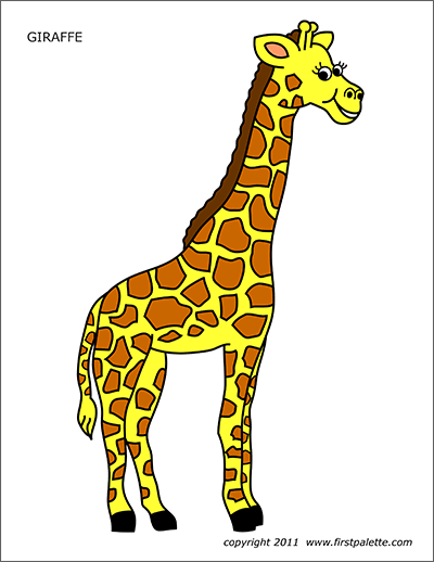 Printable Colored Giraffe