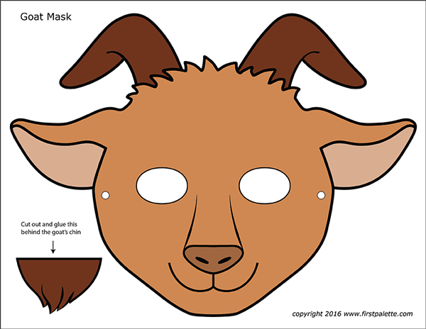 Goat Masks Free Printable Templates