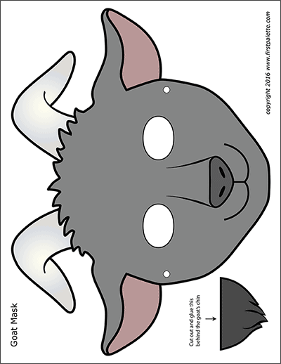 Printable Goat Masks