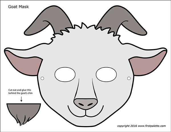 Goat Masks Free Printable Templates