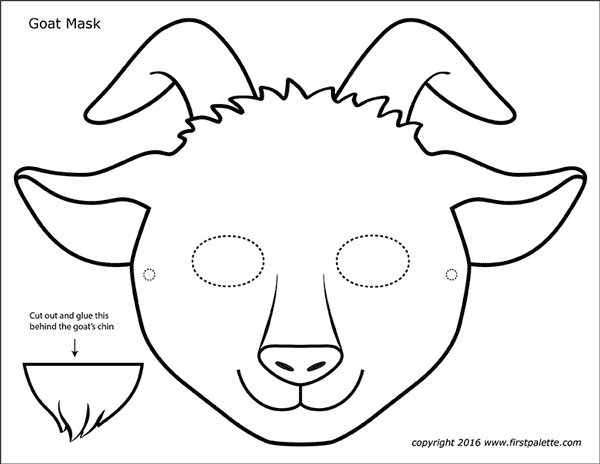 Goat Masks Free Printable Templates Coloring Pages Rhfirstpalette: Goat Coloring Pages Free Printables At Baymontmadison.com