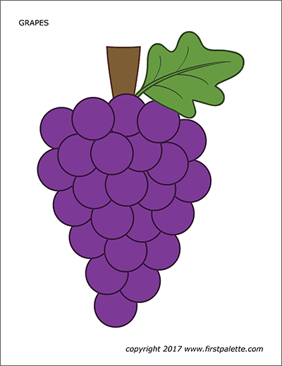 Printable Colored Grapes