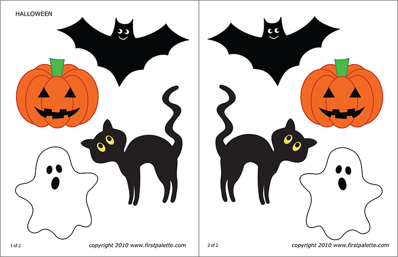 image about Halloween Cutouts Printable identify Halloween Figures Totally free Printable Templates Coloring