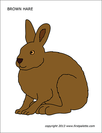 Hare Free Printable Templates Coloring Pages