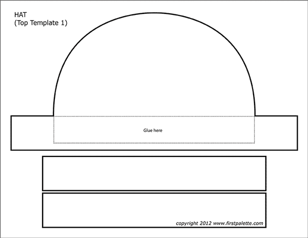 image about Witches Hat Template Printable known as Paper Hat Templates Totally free Printable Templates Coloring