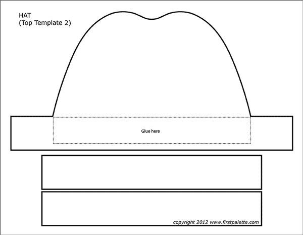 picture about Witches Hat Template Printable known as Paper Hat Templates Totally free Printable Templates Coloring