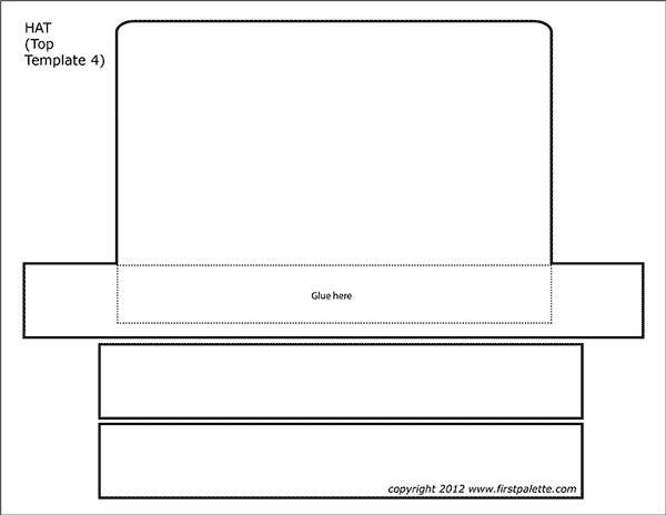 Printable Hat Top - Template 4