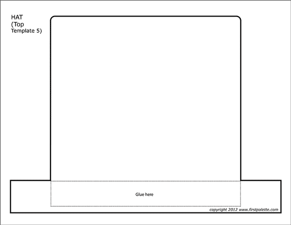 Printable Hat Top - Template 5