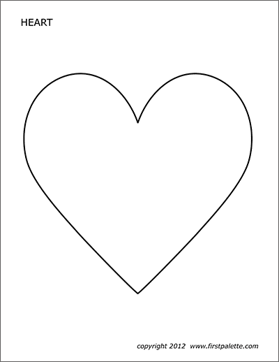 Hearts Free Printable Templates Coloring Pages Firstpalette Com
