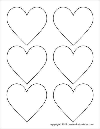 photograph about Printable Heart Shapes identify Hearts Free of charge Printable Templates Coloring Internet pages