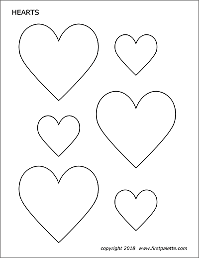 Declarative image with hearts printable