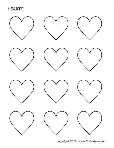 photo regarding Printable Valentines Hearts named Hearts Totally free Printable Templates Coloring Webpages