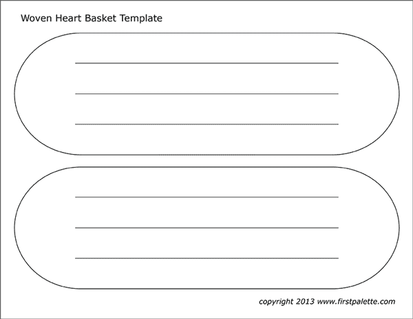 Printable heart basket template