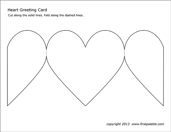 Heart Greeting Card Free Printable