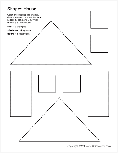 Shapes House Template | Free Printable Templates ...
