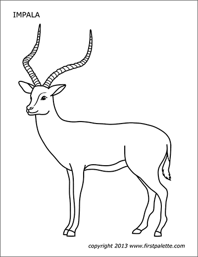 Printable Impala Coloring Page