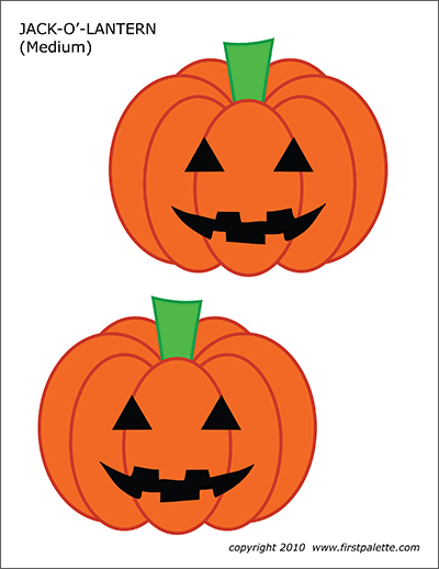 Printable Medium-sized Jack-o'-Lanterns