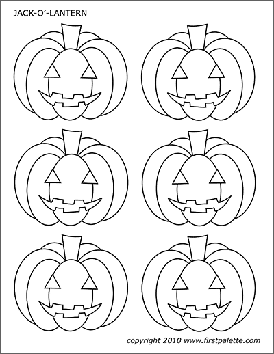 picture relating to Jack O Lantern Printable called Jack-O-Lanterns No cost Printable Templates Coloring Webpages