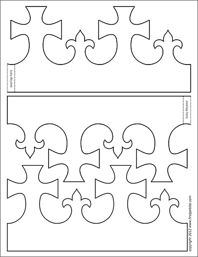 Printable King and Queen's Crown - Template 1