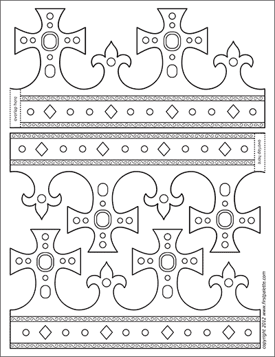 Printable King and Queen's Crown - Template 3