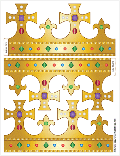 Printable King and Queen's Crown - Template 5