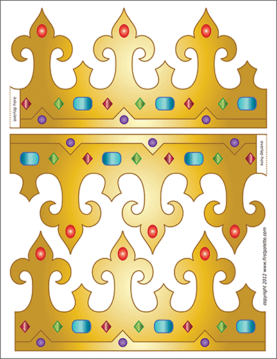 Printable King and Queen's Crown - Template 6