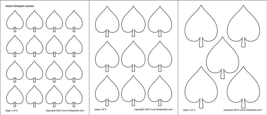 photo regarding Printable Heart Patterns known as Leaf Templates No cost Printable Templates Coloring Web pages