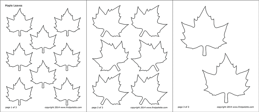 picture about Thankful Leaves Printable known as Leaf Templates Cost-free Printable Templates Coloring Web pages