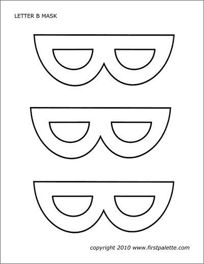 Letter B Mask template